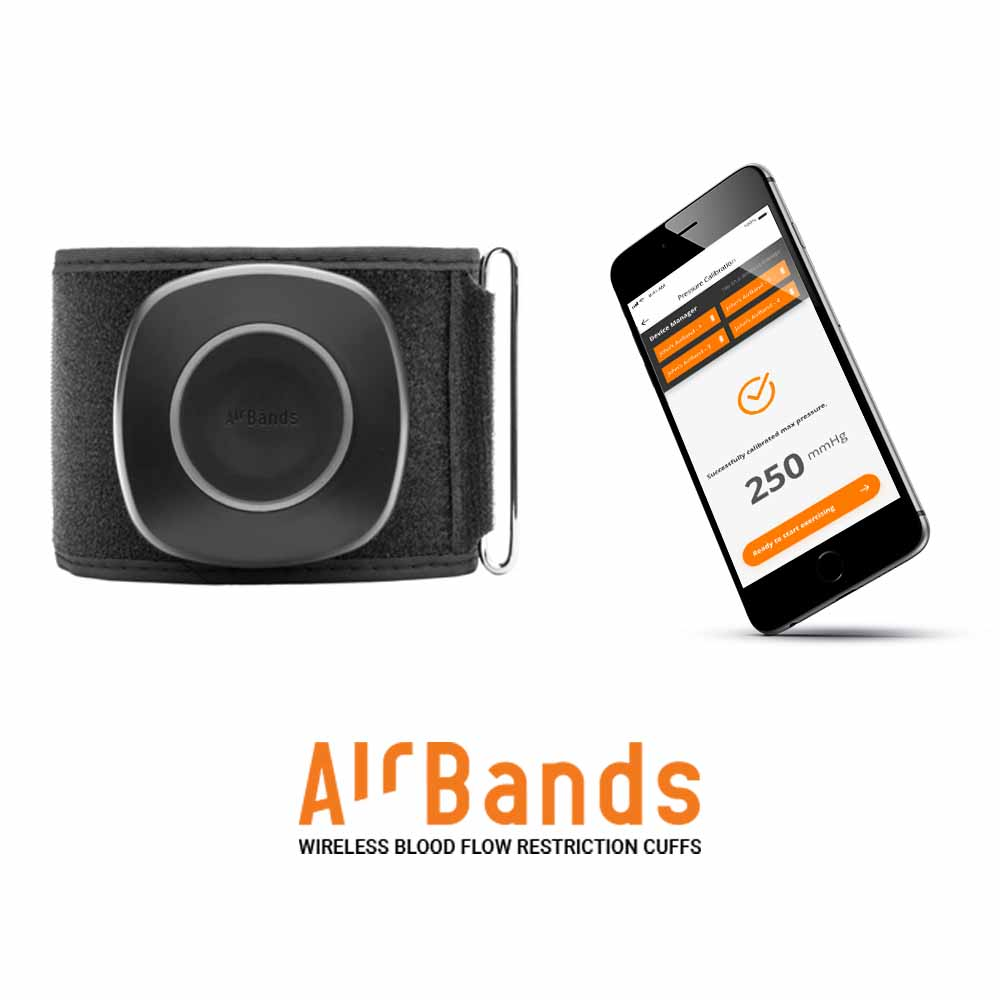 AIRBANDS WIRELESS BLOOD FLOW RESTRICTION CUFFS (BFR)